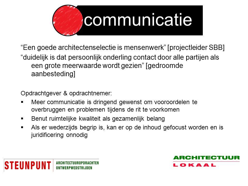 Een goede architectenselectie is mensenwerk [projectleider SBB]